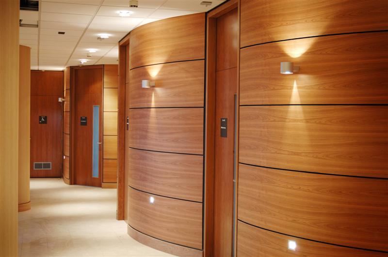Veneered Curved Wall Panels Marina Dalglish Hospital Ward